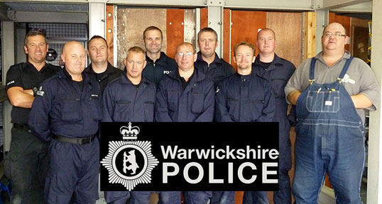 Locksmith Lee Clements training Warwickshire Police